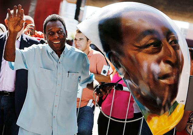 Pelé participó la semana pasada de un evento publicitario en São Paulo. Fotografía: Nacho Doce/Reuters.