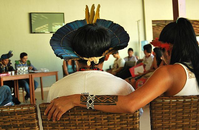 Los estudiantes indígenas expusieron el resultado de sus investigaciones durante el encuentro. Fotografía: José Bautista