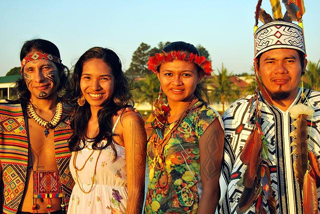Universitarios de diferentes etnias se dieron cita en el Encuentro Nacional de Estudiantes Indígenas. Fotografía: José Bautista