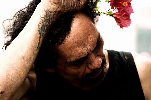 Un drogadicto instantes después de consumir crack (pasta base). Fotografía: José Antonio Bautista