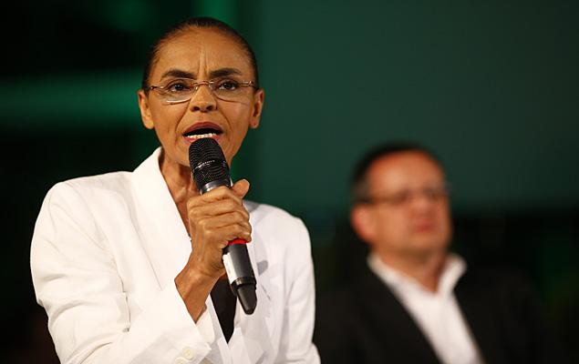 Marina Silva, candidata del PSB, apoyaría a Neves en el ballotage del domingo 26. Fotografía: Fabio Braga/Folhapress.