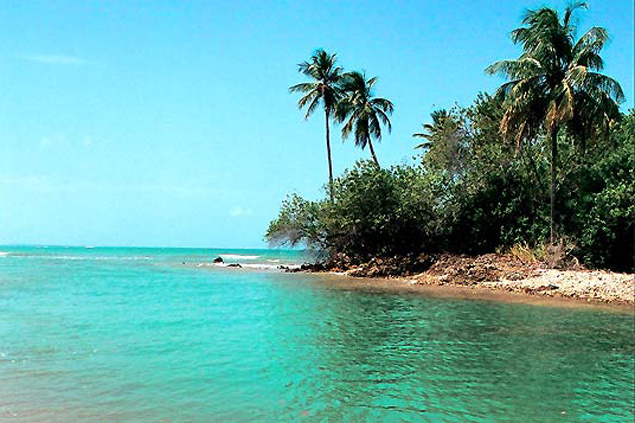 Imagen de la paradisíaca isla de Boipeba. Fotografía: Roberto de Oliveira/Folhapress.