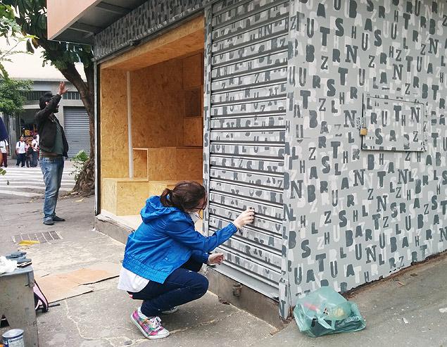 Últimos detalles de la obra en la Banca Tatuí. Fotografía: Cecilia Arbolave.