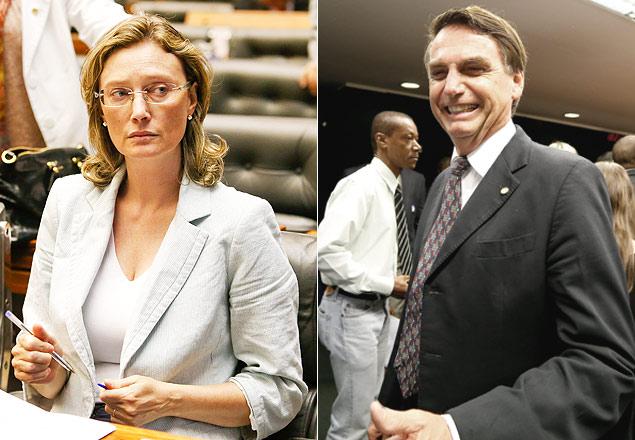 """En una de sus tantas declaraciones polémicas, Bolsonaro  dijo que no """"violaría"""" a la diputada Maria do Rosário (PT-RS) porque """"no lo merece"""". Fotografía:  Pedro Ladeira/Folhapress."""