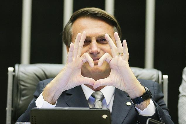 El diputado Jair Bolsonaro, durante una sesión en la Cámara de Diputados. Fotografía: Alan Marques/Folhapress.