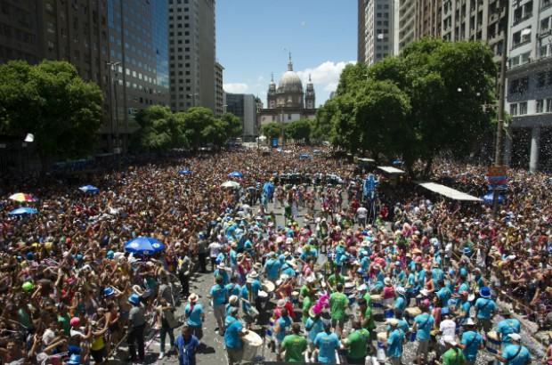 El centro de Río, uno de los escenarios principales del carnaval de Brasil. Fotografía: Márcia Moreira/Divulgação.