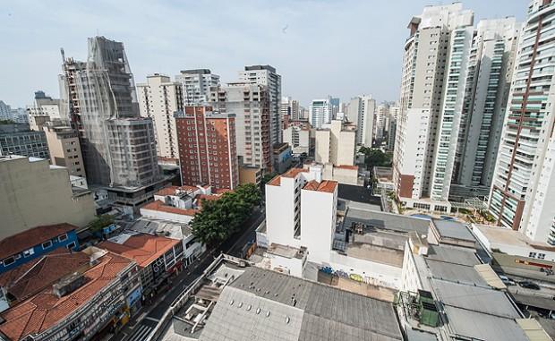 Boom inmobiliario en el Baixo Augusta. Fotografía: Gustavo Epifanio - 18.set.2014/Folhapress.