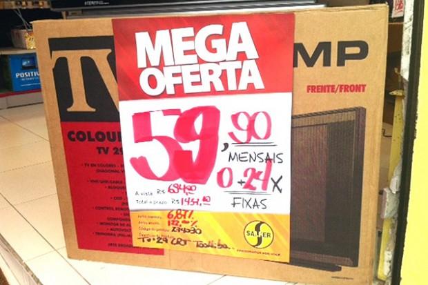 Las compras en cuotas, una costumbre bien brasileña. Fotografía: